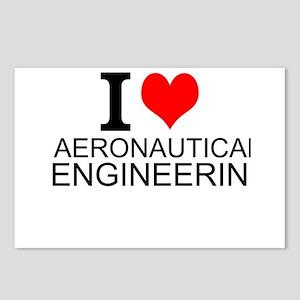 I Love Aeronautical Engineering Postcards (Package
