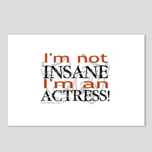 Insane actress Postcards (Package of 8)