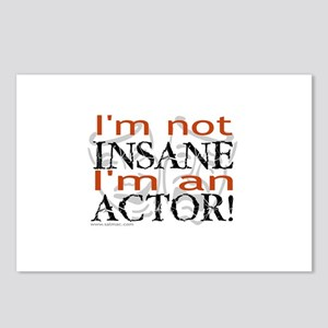 Insane Actor Postcards (Package of 8)