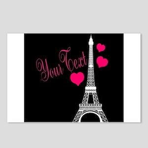 Paris France Eiffel Tower Postcards (Package of 8)