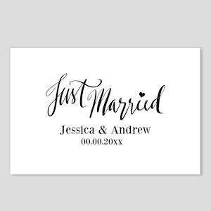 Just Married custom wedding Postcards (Package of