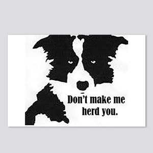 Border Collie Art Postcards (Package of 8)