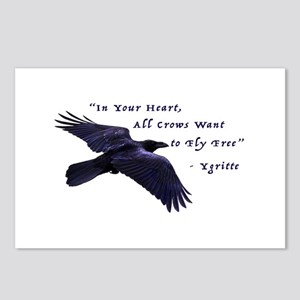All Crows Want to Fly Free Postcards (Package of 8