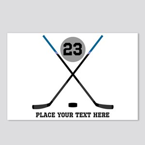 Ice Hockey Personalized Postcards (Package of 8)