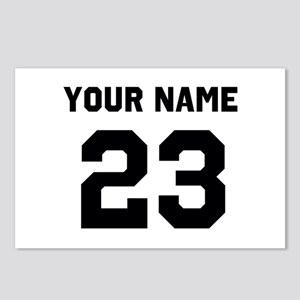 Customize sports jersey n Postcards (Package of 8)
