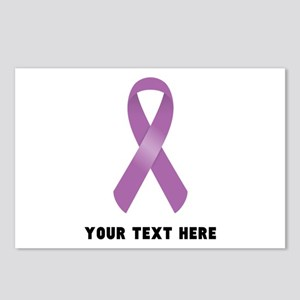 Purple Awareness Ribbon C Postcards (Package of 8)