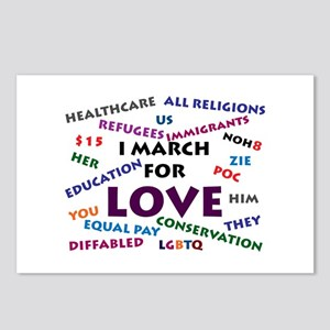 I March for Love Postcards (Package of 8)