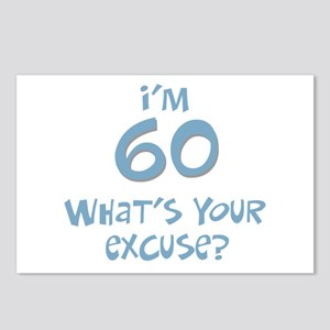 60th birthday excuse Postcards (Package of 8)