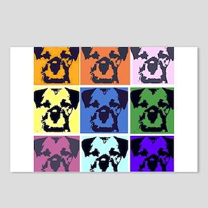 Border Terrier Pop Art Postcards (Package of 8)