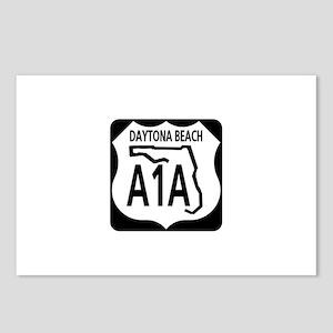 A1A Daytona Beach Postcards (Package of 8)