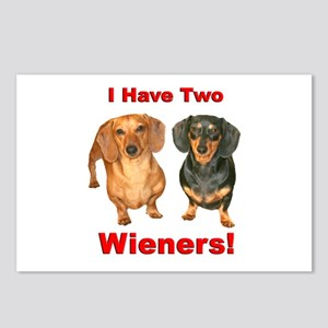Two Wieners Postcards (Package of 8)