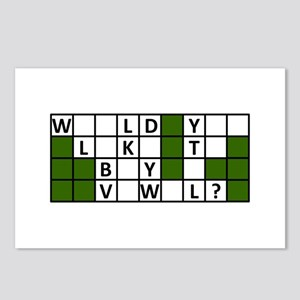 buy_a_vowel_dark Postcards (Package of 8)