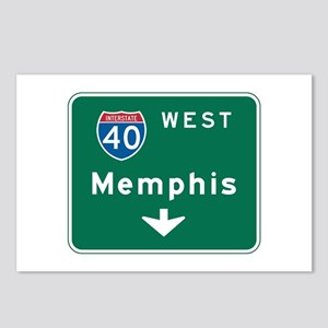 Memphis, TN Highway Sign Postcards (Package of 8)