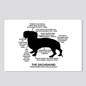 Dachshund Chart Postcards (Package of 8)