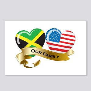 Jamaica/USA Flag_Our Family Postcards (Package of