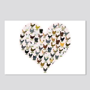 Chicken Heart Postcards (Package of 8)