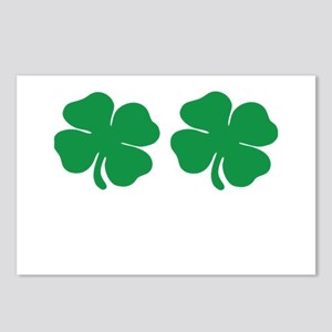 shamrock boobs Postcards (Package of 8)