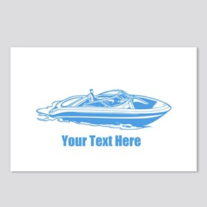Motorboat. Add Your Text. Postcards (Package of 8)