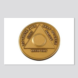 Alcoholics Anonymous Anniversary Chip Postcards (P