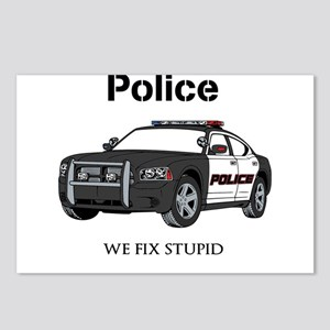 Police We Fix Stupid Postcards (Package of 8)