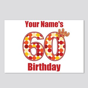 Happy 60th Birthday - Personalized! Postcards (Pac