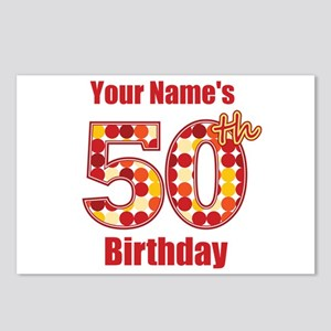 Happy 50th Birthday - Personalized! Postcards (Pac