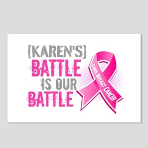 Personalized Breast Cancer Postcards (Package of 8