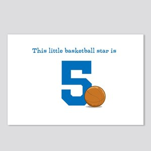 Basketball Star Custom Age Postcards (Package of 8