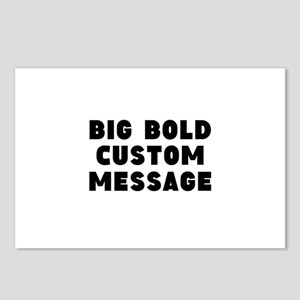 Big Bold Custom Message Postcards (Package of 8)
