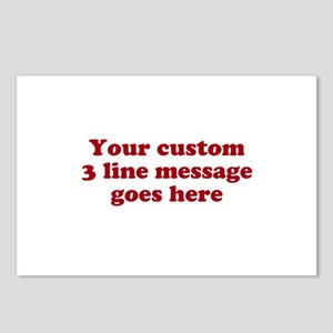 Three Line Custom Message Postcards (Package of 8)