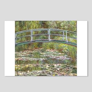 Monet Bridge over Water Lilies Postcards (Package