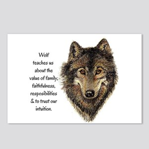Wolf Totem Animal Guide Watercolor Nature Art Post
