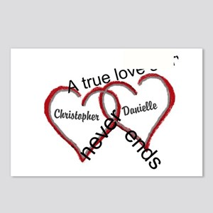 A true love story: personalize Postcards (Package