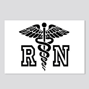 RN Nurse Caduceus Postcards (Package of 8)