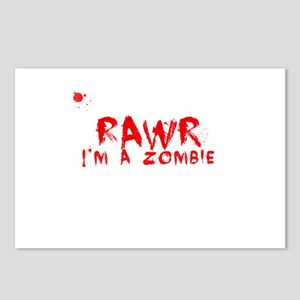 RAWR Im a Zombie Postcards (Package of 8)