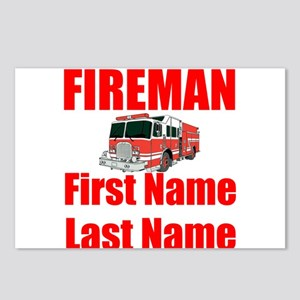 Fireman Postcards (Package of 8)