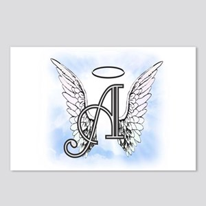 Letter A Monogram Postcards (Package of 8)
