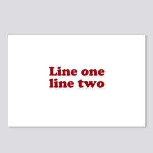 Two Line Custom Message in Dark Red Postcards (Pac