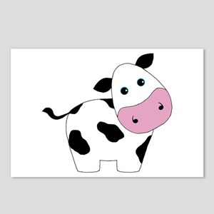 Cute Black and White Cow Postcards (Package of 8)