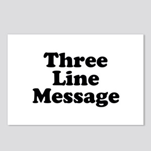 Big Three Line Message Postcards (Package of 8)