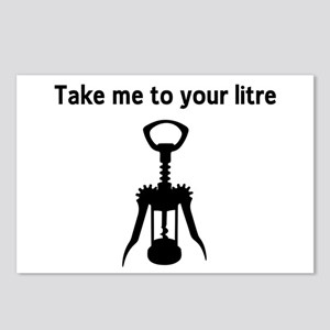 Take me to your litre Postcards (Package of 8)