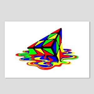 Pyraminx cude painting01B Postcards (Package of 8)