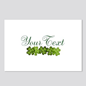 Personalizable Shamrocks Postcards (Package of 8)