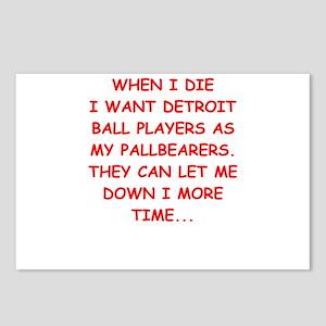 detroit sports joke Postcards (Package of 8)