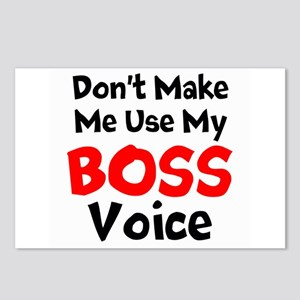 Dont Make Me Use My Boss Voice Postcards (Package