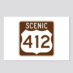 Scenic 412, Oklahoma, USA Postcards (Package of 8)