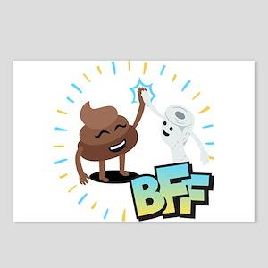 Emoji Poop Toilet Paper B Postcards (Package of 8)