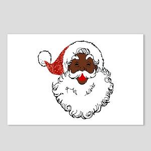 sequin African santa clau Postcards (Package of 8)