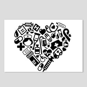Nurse Heart Postcards (Package of 8)