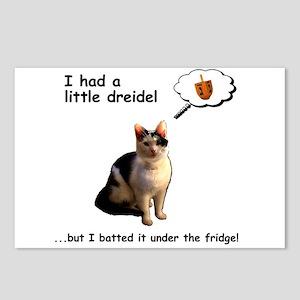 Hanukkah Dreidel Cat Postcards (Package of 8)